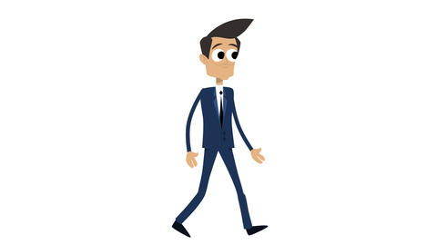 Businessman Animation Template 1 - Walking [4K] CG動画素材