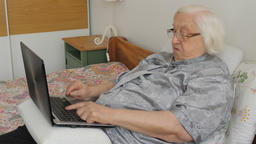 Angry old woman and modern technology. Funny Live Action
