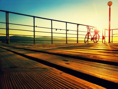 Sunrise on the deck Photo