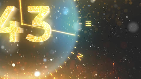 Happy New Year Countdown 2019, Stock Animation