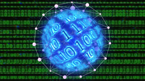 digital binary data scan loop background Animation