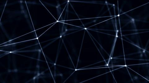 Looped Futuristic Technology Molecular Abstract Plexus Background. Network ライブ動画