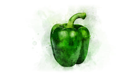 Green bell pepper set for video editing Animation
