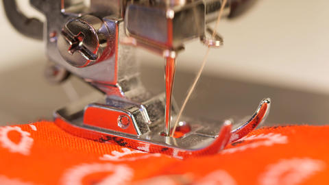 Sewing Machine Needle Macro 4K Close Up Footage