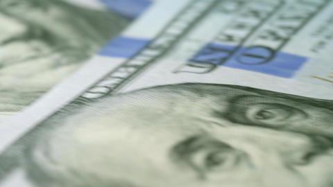 New One Hundred Dollar Bills Loop Money 4K Macro Background Footage