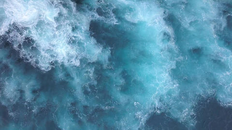 Beautiful Blue Sea Waves and Foam 4K Background Footage Live Action