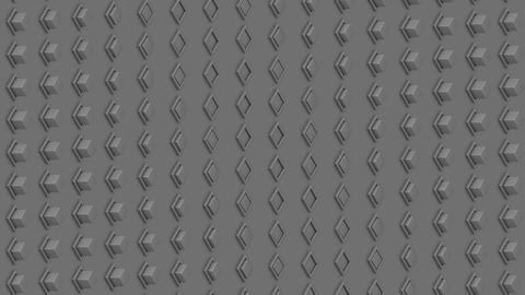 Abstract isometric background gray cubes buttons waves motion Animation