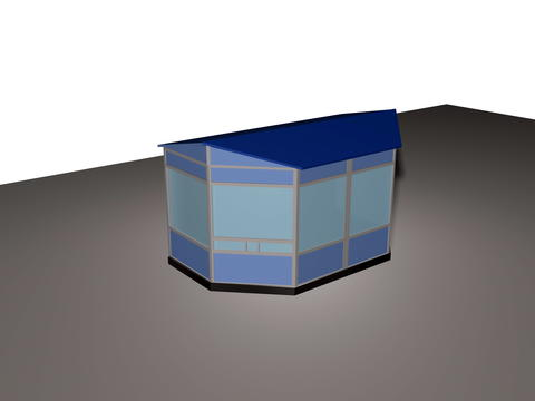 Model of small architectural form 3D Model