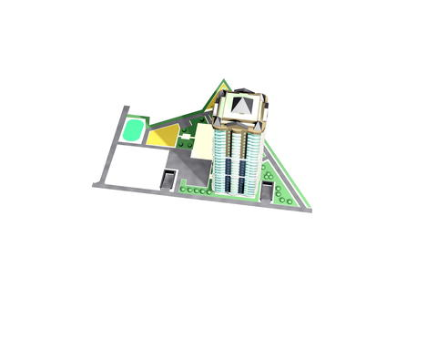 Model of the architectural design of the residential complex 3D Model
