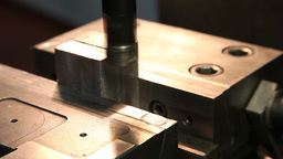 milling machine to thin out steel block Footage