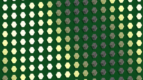 Abstract isometric background cubes lights bulbs waves flashing motion Animation