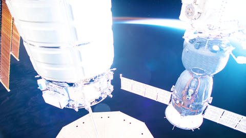 Planet Earth seen from the ISS. Beautiful Planet Earth observed from space. Nasa Live Action