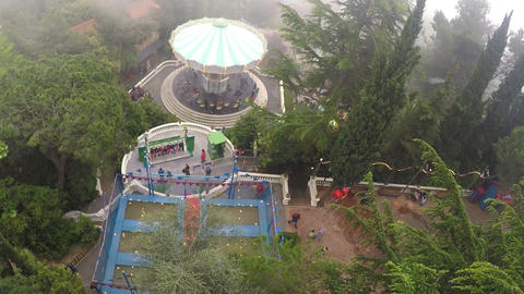 Aerial Footage of Carousel Archivo