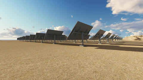Solar power plant Animation