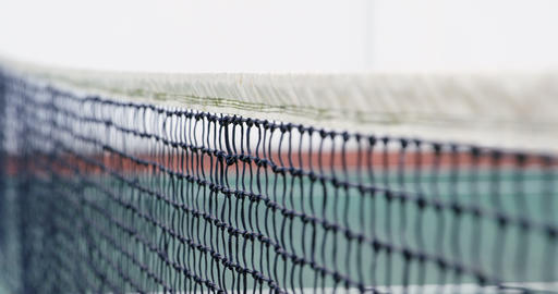 Net on tennis court 4k Live Action