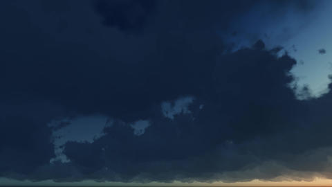 Sky with clouds, Time-lapse Animation