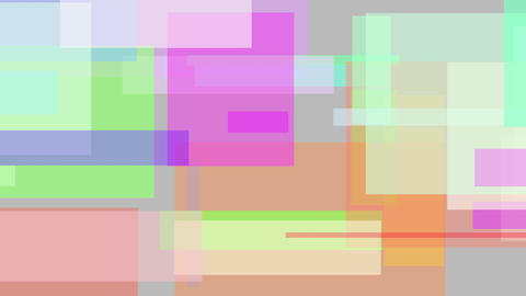 Floating multicolor rectangles. Loopable motion background Live Action