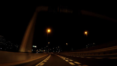 Japanese cityscape. Travel image of the expressway in Tokyo ビデオ