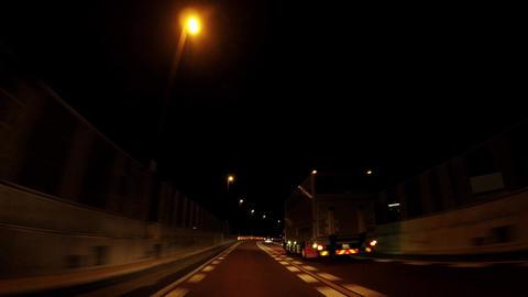 Road in Japan. Night highway in Tokyo ビデオ