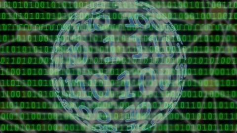 digital binary data scan loop background Animación