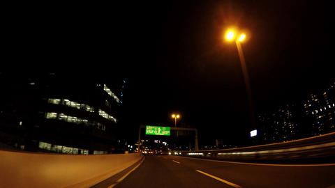 Road in Japan. Traveling in Tokyo's night capital high speed ライブ動画