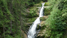 Kamienczyk Waterfall. Karkonosze National Park - UNESCO biosphere reserve Live Action