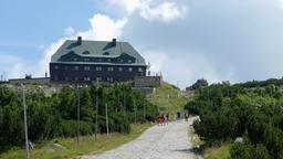 Mountain hut at the Szrenica mountain. The Karkonoski National Park. Poland Footage
