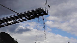 Mud drop off conveyor belt Footage