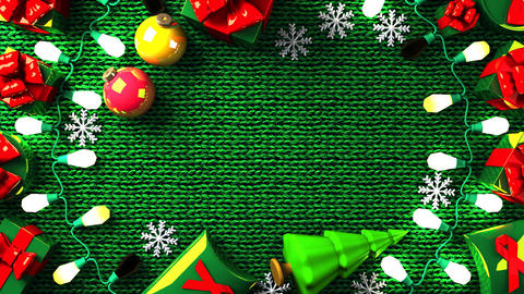 Garland Lights and Christmas Present Boxes Animation