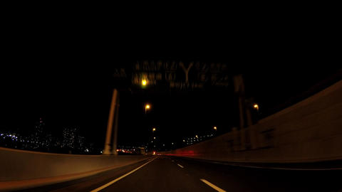Road in Japan. Tokyo at night, the capital highway Footage