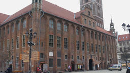 Town Hall in Torun city, Poland. Old town in Torun is the Unesco heritage site Footage