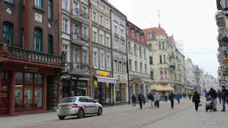 Torun city, old town. Unesco heritage site in Poland Live Action