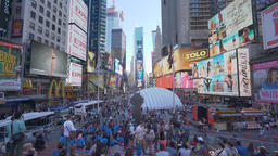 4k dolly shot of Times Square in New York Footage