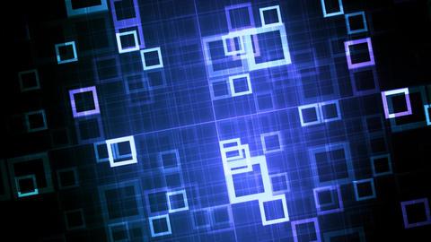 Blue Technology Data Grid Animation