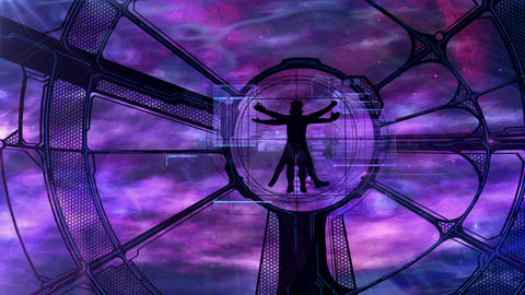 Vitruvian Astronaut at the Space Station GIF