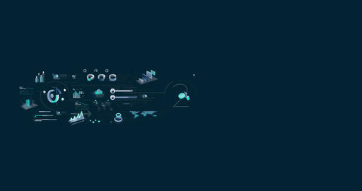 Business Infographics Timeline With Alpha Channel Animation