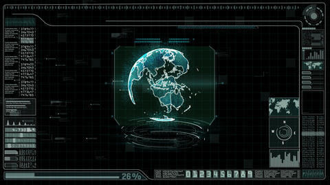 Hi-Tech Digital HUD background 0036 Animation