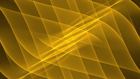 Luxurious golden abstract background with diagonal oriented wavy curves. Nice GIF