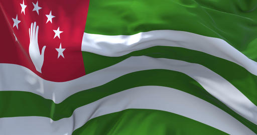 01. Abkhazia Flag Waving in Wind Continuous Seamless Loop Background 애니메이션