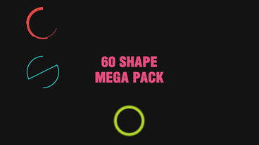 60 Shape Element Pack After Effects Template