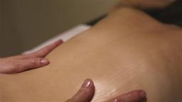Girl receiving a massage Footage