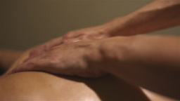 Girl Receiving A Massage stock footage