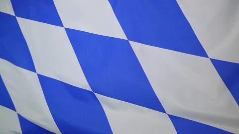 Moving flag of Bavaria, Germany Footage