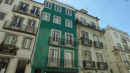 old buildings of street in Lisbon, portugal Footage