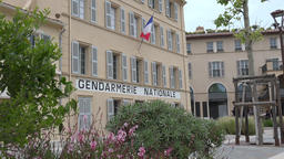 France Cote d'Azur Saint Tropez Place Blanqui and famous Gendarmerie Nationale GIF