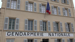 France Cote d'Azur Saint Tropez facade of Gendarmerie Nationale police dept GIF