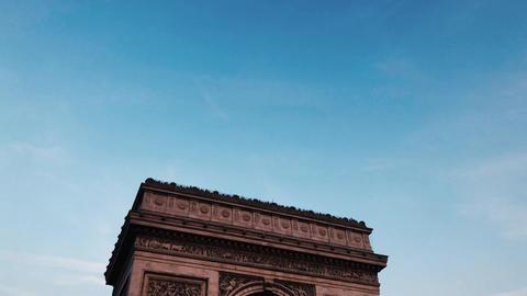 Arc de Triomphe - National monument and famous place in France, Paris 4K Live Action