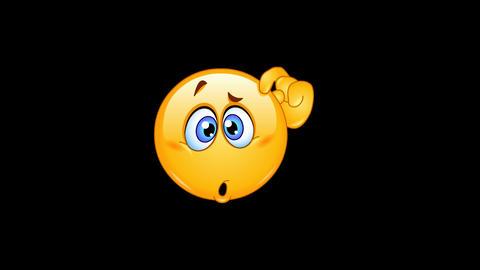 Confused emoticon animation Animation