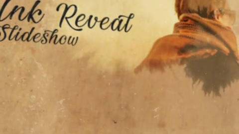 10 Ink Reveal Slideshow After Effects Template