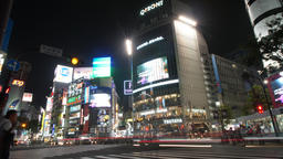 Shibuya Station intersection Timelapse Footage